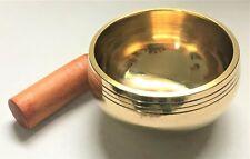 More details for tibetan buddhism hand made brass chakra singing bowl meditation healing reiki