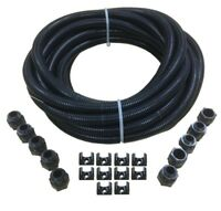 20mm Black Flexible Electrical Conduit Contractor Pack With 10 GLANDS /& LOCKNUTS