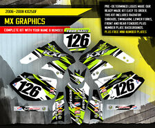 2006 2007 2008 KXF 250 GRAPHICS KIT KAWASAKI KX250F KX F 250F DECAL