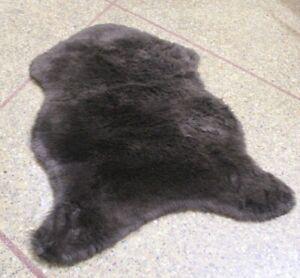 Sheepskin Rug Brown 2x3 ft Single Pelt Faux Sheep Wool Fur Rug, fake Lamb skin