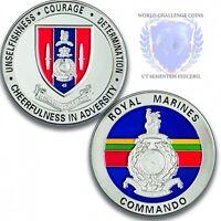 Royal Marines 45 Commando Memorabilia Silver Challenge Spoof Coin / Medal
