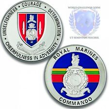 Royal Marines 45 Commando Silver Challenge Coin