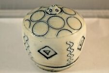 Blue & White Bob and Cheryl Husby Pottery Puzzle Spice Shaker