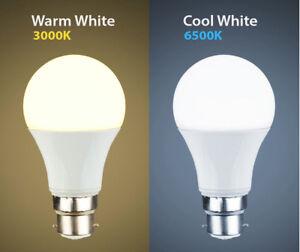 Cool white , Warm White 12W , 15W LED BC B22 GLS Light Bulb Energy Saving Lamp