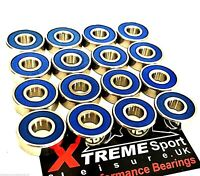 16 Pack Xtreme CLASSIC 608 2rs STAINLESS ALL WEATHER SKATEBOARD BEARINGS