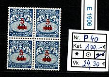 (E1906) Danzig Nr. P 40** im herrlichen Viererblock Kat.100.-€   RR
