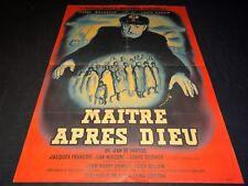 MAITRE APRES DIEU Pierre Brasseur affiche cinema rene peron 1950