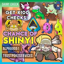 Pokemon Go SHINY CHECK x100 Any Pokemon - 100% Safe!