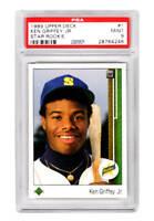 Ken Griffey Jr (Mariners) 1989 Upper Deck Baseball #1 RC Rookie Card -PSA 9 MINT