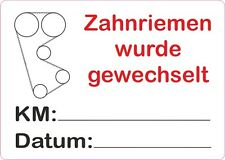 Zahnriemen ,gewechselt, Service Aufkleber, KFZ Auto, 50x37 mm  20Stück