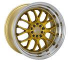 18x8.5 +35 F1R F21 5x114.3,5x120 Machine Gold Rims (Set of 4)