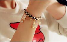 New Girls Korean Star Flower Poker Card Love Black Bracelet Anklet