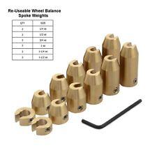 12PCS Motorcycle Reusable Brass Wheel Spoke Balance Weights Refill Kit Universal