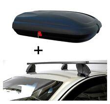 Dachbox VDPBA320L carbonlook+Dachträger K1M für Seat Ibiza III 02-09