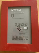 IKEA NYTTJA Red 5x7 Picture Frame NEW