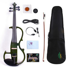 Yinfente 4/4 Electric Violin Wooden Body Nice Sound Free Case Bow Cable#EV8