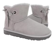 New NIB Ugg Women's Josey Bling Embellished Swarovski Crystal Gray Suede Boots