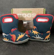 Bogs Baby Dino Waterproof Insulated Boots Indigo Multi Size 4 NIB