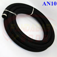 AN10 10AN -10 STEEL NYLON BRAIDED TRANSIMISSION OIL FUEL LINE GAS HOSE 3FOOT BK