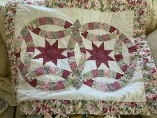 """Patchwork Floral on Off White Standard Sham 24"""" by 30"""""""