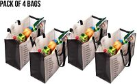 Reusable Grocery Bags Heavy Duty Sustainable 4 Pcs Large grocery tote shopping