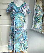 *BNWT* GREY & OSBOURN Pomodoro Fine Cotton Dress Paisley Summer Holiday UK 12