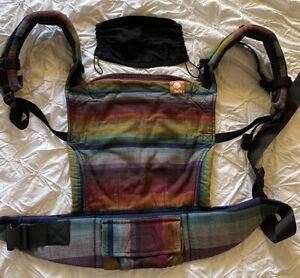 Tula Full Buckle Baby Carrier - Girasol Dark Rainbow Half Wrap Conversion