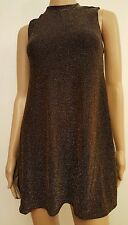 New asos black gold glitter dress top size s/m