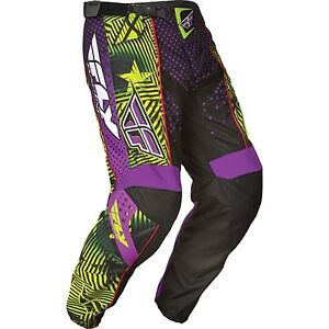 NOS FLY RACING 365-53932 F-16 LIMITED EDITION PANTS PURPLE / BLACK MENS SIZE 32