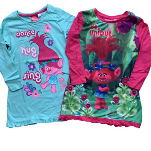 Girls Trolls Nightdress Nightie Nighty Pyjamas Age 4 - 10 Years