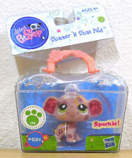 2154 NEW Littlest Pet Shop SHIMMER & SHINE Elephant  Glitter Case RARE