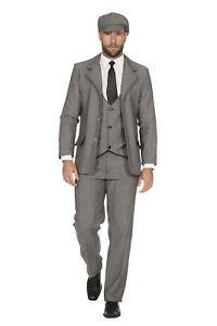 SAKKO tailliert 20er Jahre Peaky Blinders Jacke Herren Kostüm Schwarz-Weiß 20's