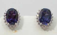 Beautiful Natural Amethyst With 925 Sterling Silver Earrings. SSER004