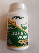 Deva Vegan St. John's Wort - Organic - 90 Tiny Tabs - Exp: 12/2020