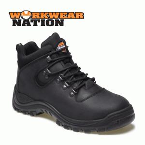 Dickies Fury Safety Hiker Work Boot,  Leather, Steel Toe Oiled Black