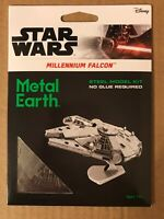 Fascinations Metal Earth Star Wars MILLENNIUM FALCON Disney Steel Model Kit New