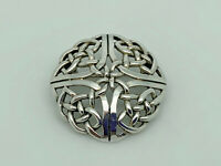 Gorgeous Vintage CME Sterling Silver Entwined Celtic Knot Pendant & Brooch