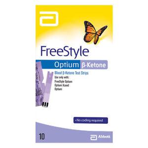 Abbott FreeStyle Optium Blood Ketone Test Strips - 10 Pack (Brand new in BOX)