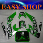 Green Sticker Decal Kit Fairing 50cc 70cc 90cc 125cc Bike Dirt Pit Pro Trail Set