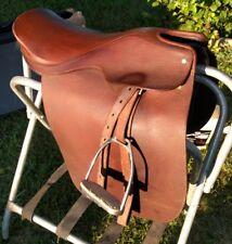 "Rossi y Caruso  19"" SADDLESEATcutback Dressage English saddle Leathers irons"
