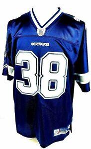 Dallas Cowboys Roy Williams Premier Jersey #38 Navy Reebok Mens Large NWT New