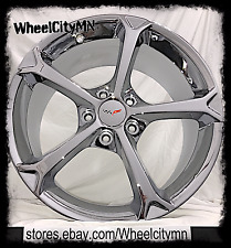 "19 x10"" 18 x8.5 inch staggered chrome Corvette Grand Sport OE wheels rim 5460 C5"
