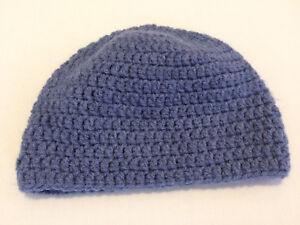 Handmade Knitted Hat - Baby Boy - 0-6 months- Blue-Grey