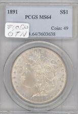 1891 Morgan Silver Dollar PCGS MS 64