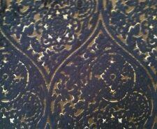 DESIGNERS GUILD Vanvitelli Viscose Cotton Black Brown Raised Velvet Remnant New