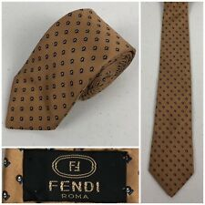 Fendi Tie All Over Multicolor Geometric Vintage