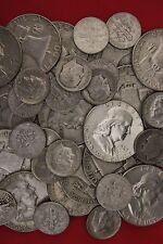 MAKE OFFER 2 Standard Ounces Ben Franklin Half Dollars Roosevelt Junk 90% Silver
