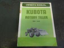 Kubota Model Fs1000 Rotary Tiller Owners Manual 704913 232 1