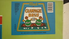 1980s NORWAY SOFT DRINK CORDIAL LABEL, MACK OL BRYGGERI TROMSO, CHAMPAGNE 1