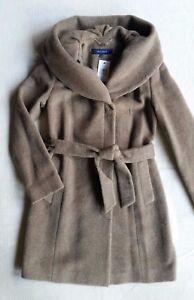 Cole Haan Women's  Belted Italian Alpaca-Wool Coat - Maple Sugar, Size  8,10